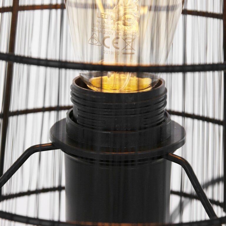Ingezoomde foto van trendy tafellamp uit de Gaze serie