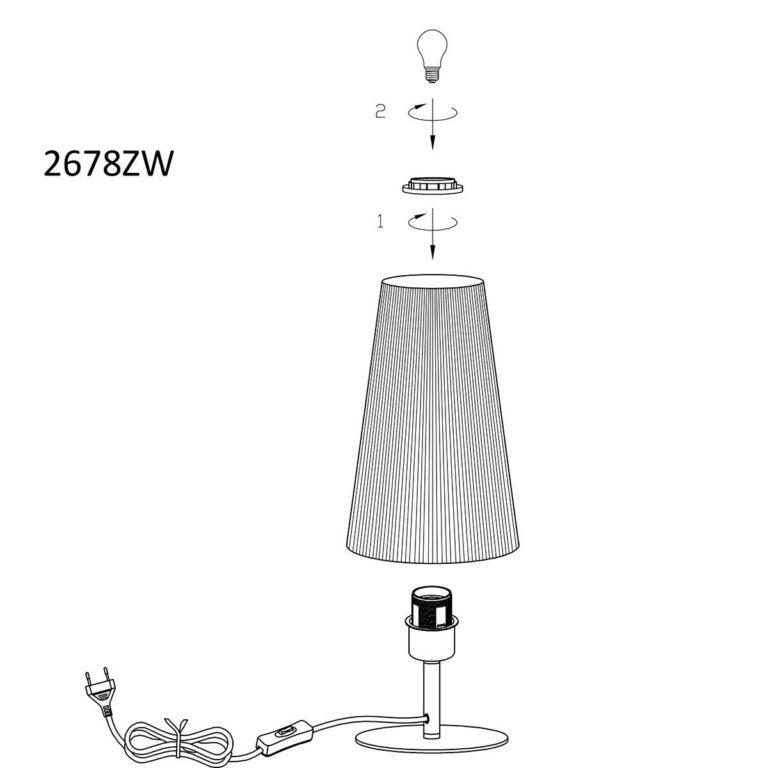 Handleiding Trendy tafellamp uit de Gaze serie