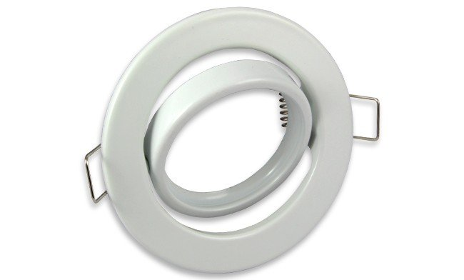 Wit ronde Inbouwspot die kantelbaar is