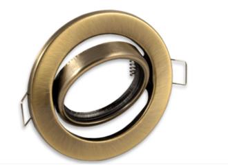 Bronze ronde Inbouwspot die kantelbaar is