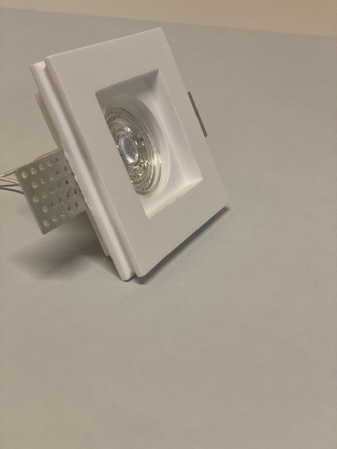 Inbouwspot gips vierkant