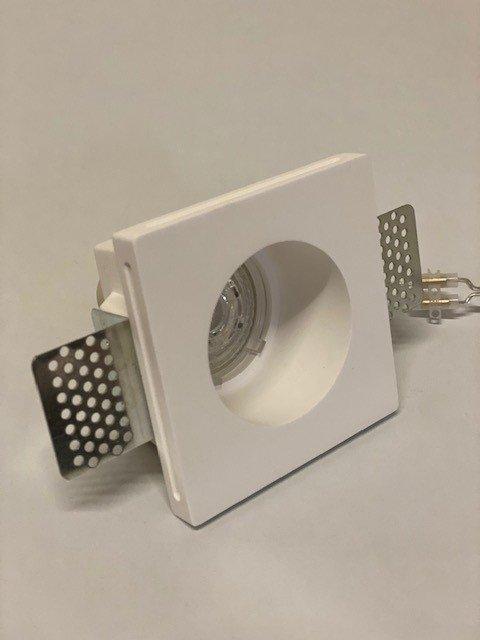 inbouwspot gips vierkant met rond gat