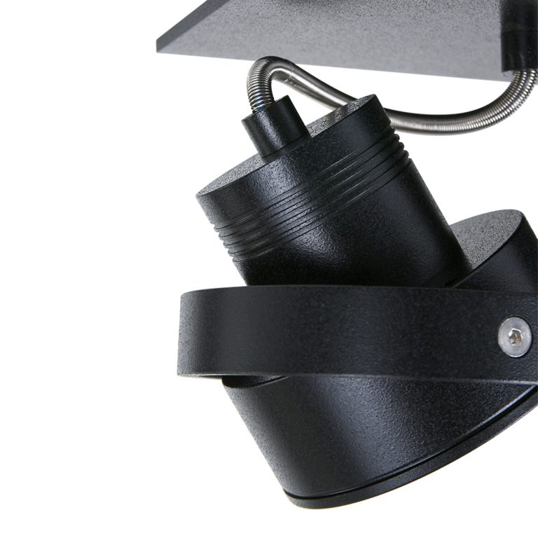 Opbouwspot Quatro 3 lichts zwart