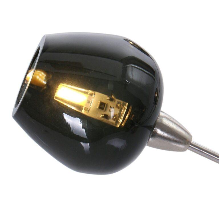 Plafondlamp uit de serie Tarda LED van rookglas zwart