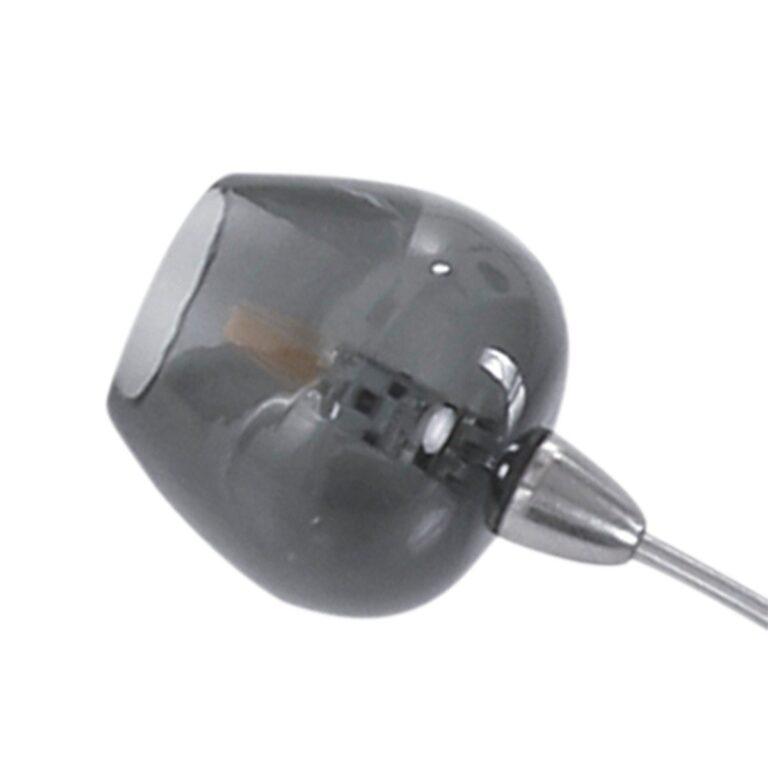 Plafondlamp uit de serie Tarda LED van rookglas