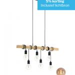 Hanglamp Townshend 6 lichts met 6 lichtbronnen