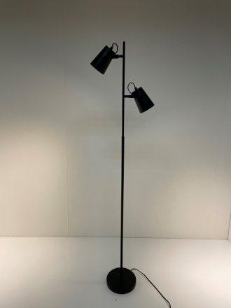 Leeslamp Lettura zwart 2-lichts