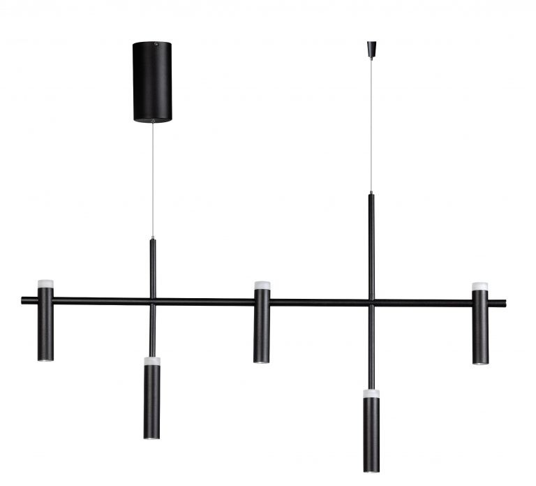 Jack hanglamp led 2700k 5x7w dimbaar zwart 1200x115x1800mm 1800lm