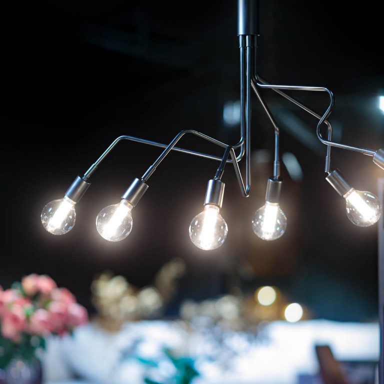 Viper hanglamp 6x E27 H173cm L130cm B65cm