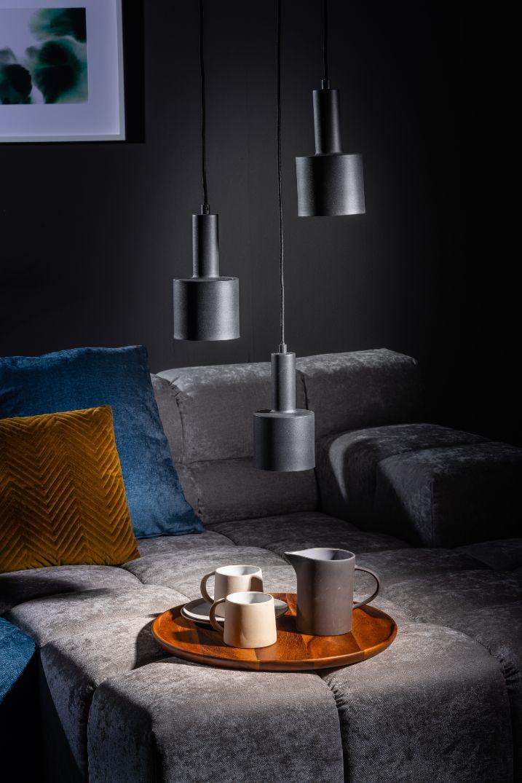 Sledge hanglamp 3x E27 dia.30cm zwart