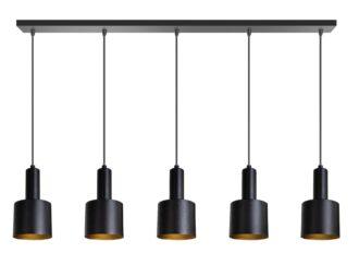 Sledge hanglamp 5x E27 120cm zwart