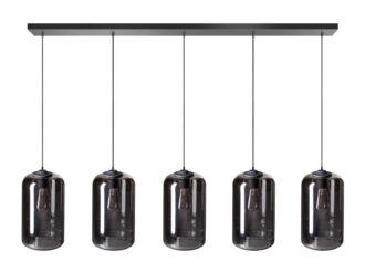 The John hanglamp 5x E27 120cm zwart