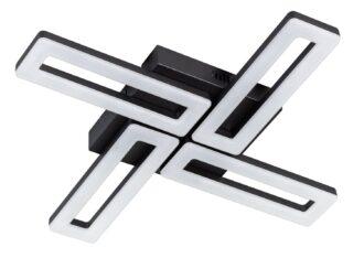 Mondrian plafondlamp led 670x670x60mm 2700k 4x16w dimbaar zwart 3800lm