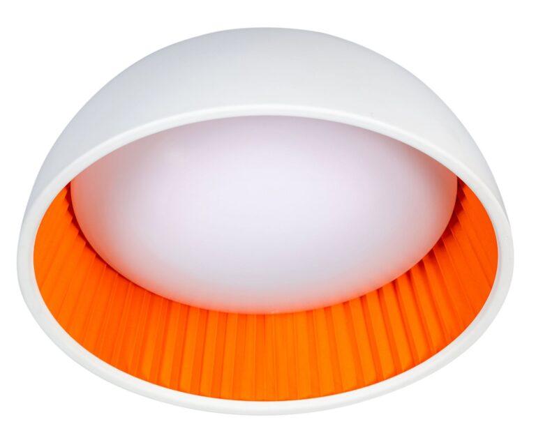 Ringo plafondlamp ø490mm wit/oranje 40W 2700K dimbaar 3200Lm
