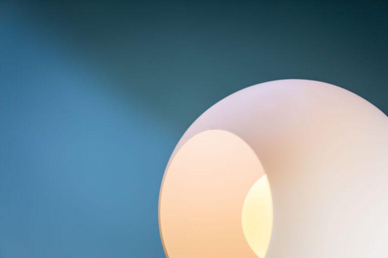 Orb Opal tafellamp 1x E27 opaal glas 30cm / zwart