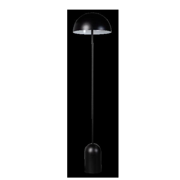 Bobby vloerlamp 2xE27 ronde metalen kap mat zwart