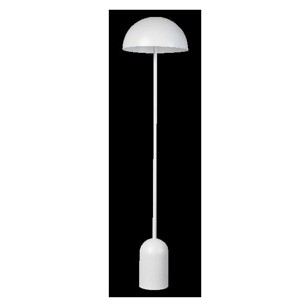 Bobby vloerlamp 2xE27 ronde metalen kap mat wit