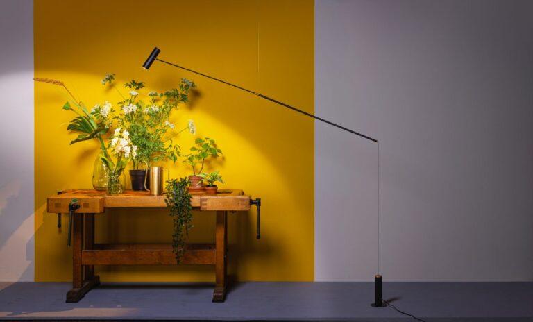 Rodd vloerlamp/hanglamp led 2700k 12w dimbaar zwart 1920x120x1200mm 876L Ra>80