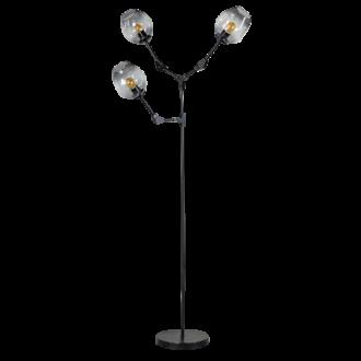 Lime vloerlamp 3x E27 met smoke glas kleur zwart H170xW90