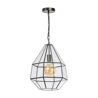 Fame hanglamp 1x E27 matt coffee / helder glas w365 x h435mm
