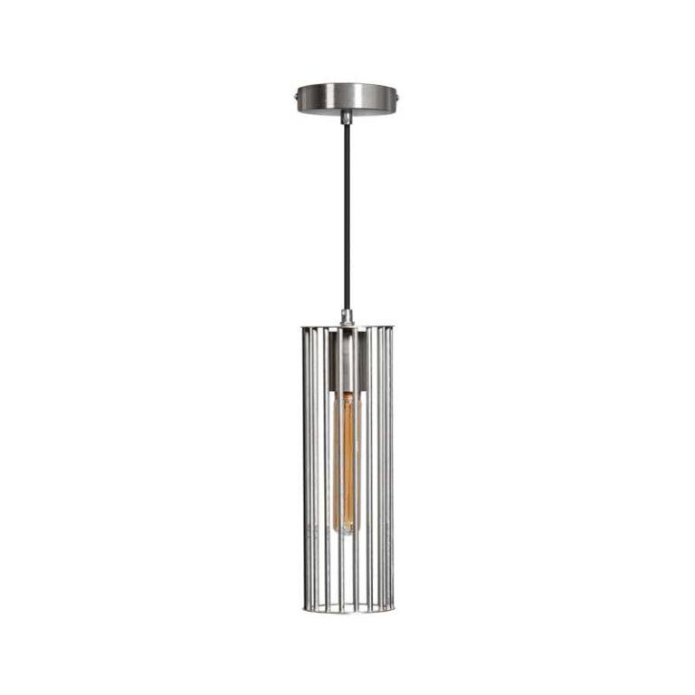 Birdy hanglamp 1xe27 D9.6cm H30cm staal