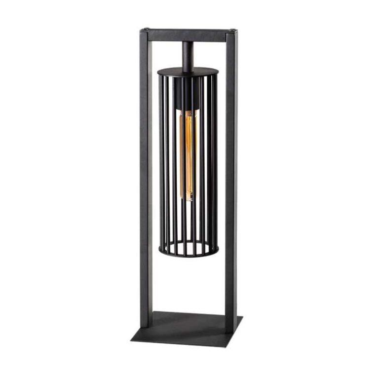 Birdy tafellamp 1x E27 zwart 160x160x500mm