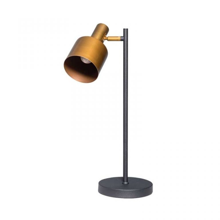 Sledge tafellamp 1x E27 zwart/vintage gold