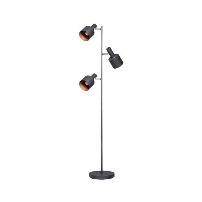 Sledge vloerlamp 3 x E27 zwart