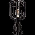 Steve Straight tafellamp 1x E27 zwart