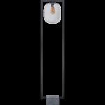 Benn XL vloerlamp 1x E27 zwart / gun metal glas variant 3