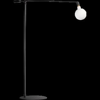 Mike 'XL' vloerlamp 1x E27 - arm 2 meter zwart