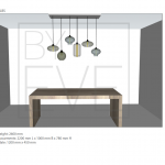 By Eve Hanglamp 6 lichts grey B