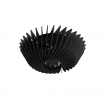 Plafondlamp Corner 36 zwart