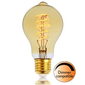 Led 9w Standaardlamp goud e27 Spiraal 650LM