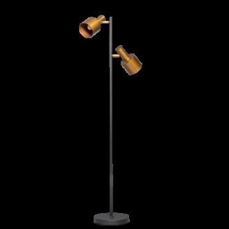 Sledge vloerlamp 2x E27 vintage gold/zwart