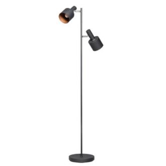 Sledge vloerlamp 2x E27 zwart