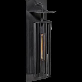 Birdy wandlamp 1x E27 zwart 140x140x450mm