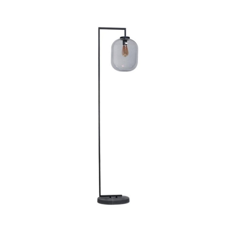 Benn XL vloerlamp 1x E27 zwart / gun metal glas (LET OP BESTAAT UIT 2 DOZEN)