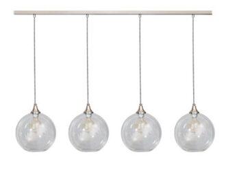 Calvello hanglamp balk 25cm 4x E27 helder