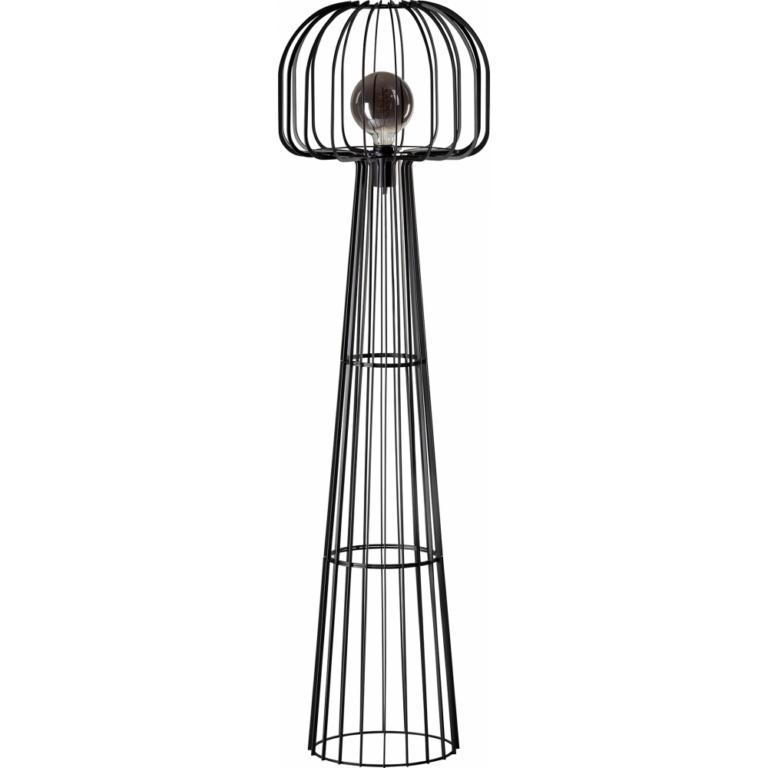 Steve Curvy vloerlamp 1x E27 zwart