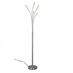 Vloerlamp Reed staal Led