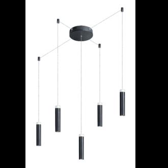 Jack hanglamp led 2700k 5x7w dimbaar zwart 1900lm