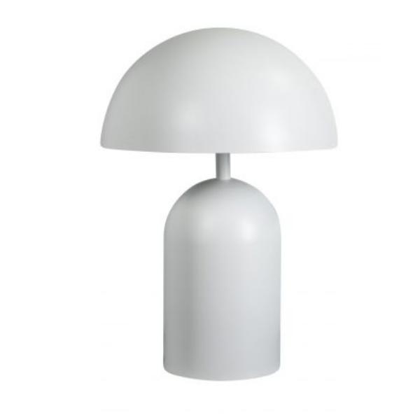 Bobby tafellamp 2xE27 ronde metalen kap mat wit
