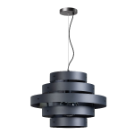Blagoon hanglamp 5 rings E27 D500xH1350mm antraciet