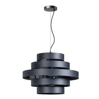 Blagoon hanglamp 5 rings antraciet