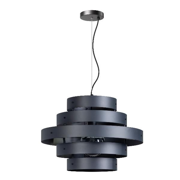 Blagoon hanglamp 5 rings antraciet
