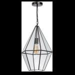 Fame hanglamp 1x E27 matt coffee / helder glas w430 x h380mm