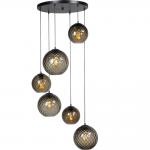 Hanglamp Baloton 6 lichts smoke
