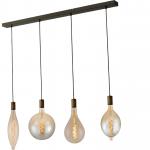 Hanglamp Tessi 4 lichts antiek koper