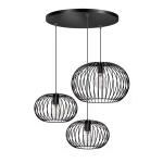 Hanglamp wire trio zwart ETH